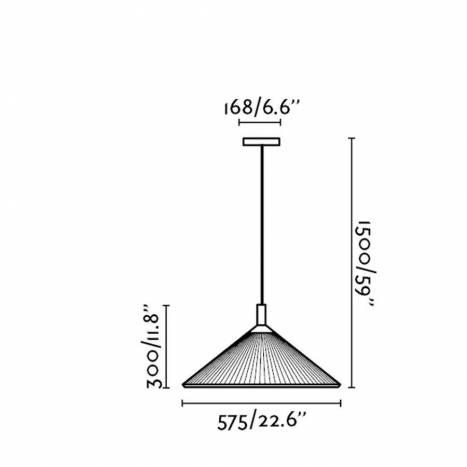 Lámpara colgante Hue gris IP44 - Faro