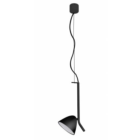 Lámpara colgante Flash LED 1 luz negra - Faro
