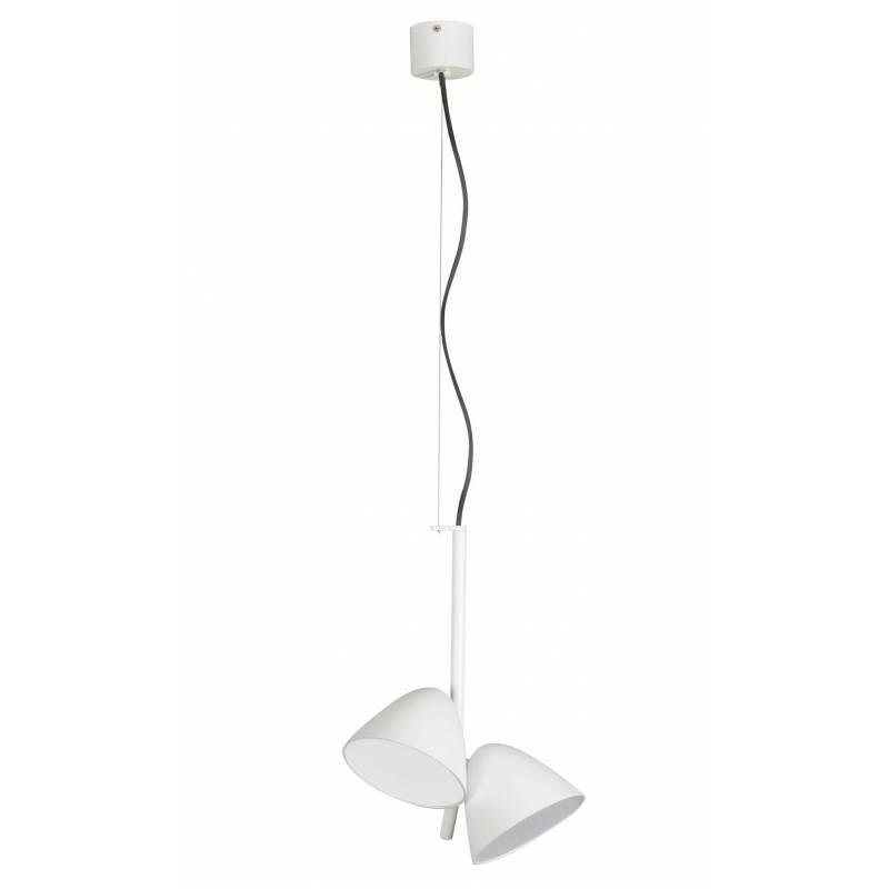 FARO Flash pendant lamp LED 2 lights white
