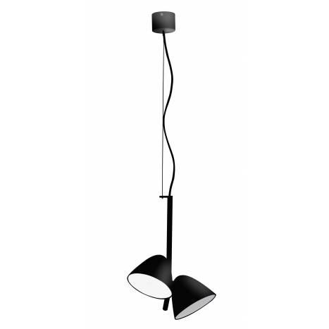 FARO Flash pendant lamp LED 2 lights black