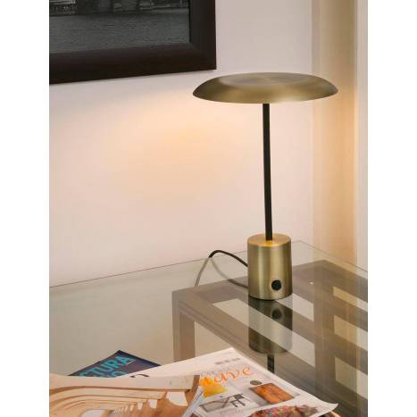 FARO Hoshi LED table lamp dimmable gold colour