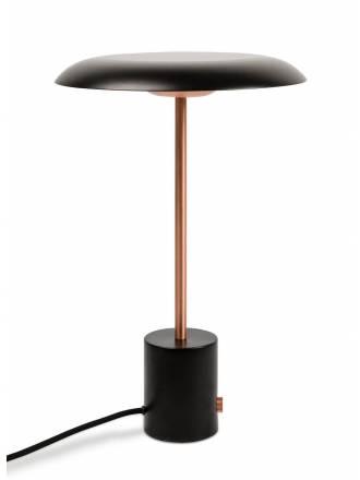 Lámpara de mesa Hoshi LED regulable negra - Faro