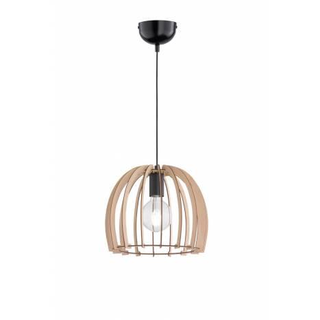 Lámpara colgante Wood 1L E27 30cm - Trio