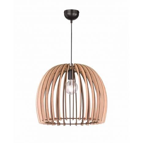 TRIO Wood pendant 1L E27 lamp 50cm