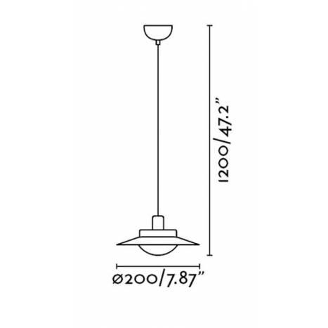 FARO Side pendant lamp 1 light  white-nickel