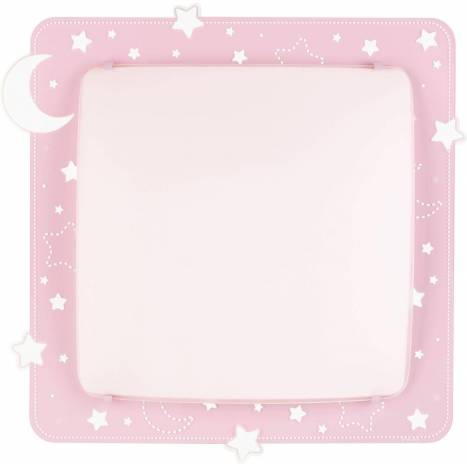 Plafón de techo Moon Light 2L rosa - Dalber