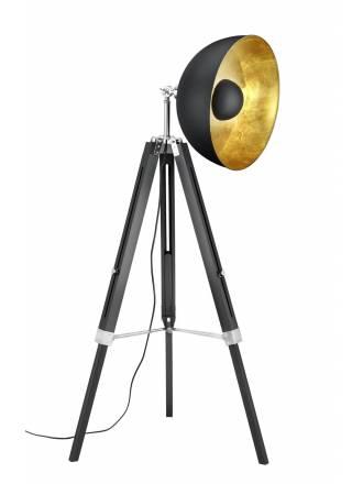 Lámpara de pie Liège 1L E27 negro - Trio