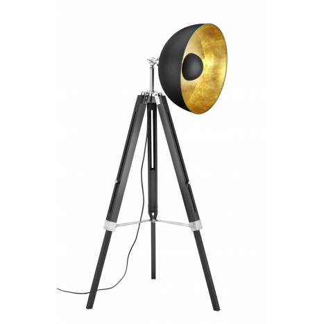 TRIO Liège floor lamp 1L E27 black