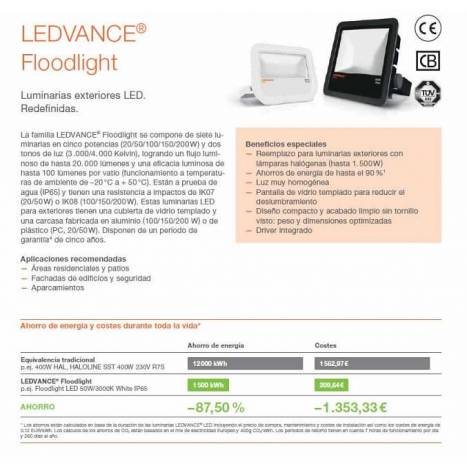 OSRAM Ledvance floodlight LED 50w white