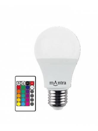Bombilla LED 7.5w E27 RGB + Mando - Mantra