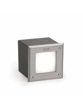 Empotrable suelo LED-18 LED 3w cuadrado inox - Faro