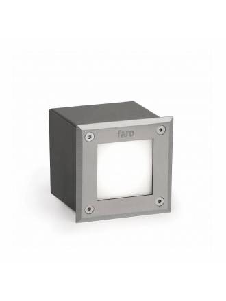 FARO LED-18 square recessed lamp inox