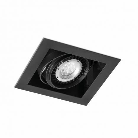 Foco empotrable Gingko 1L AR111 negro - Faro