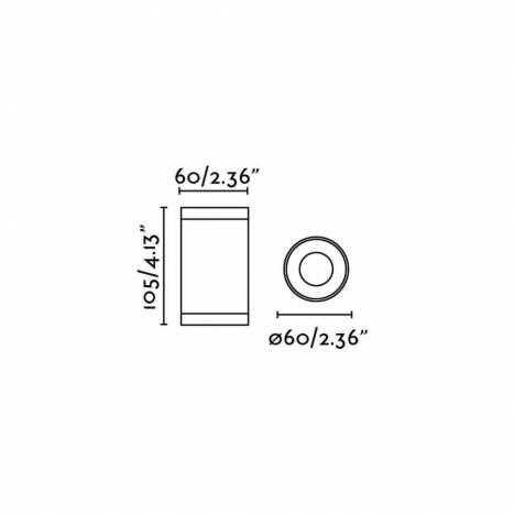 Foco de superficie Olot 1L GU10 gris - Faro