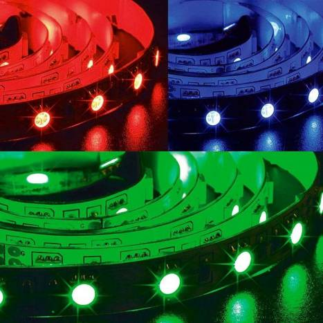 Tira LED RGB 5mts 12w 60 LEDS/M 24VDC IP65 - Maslighting