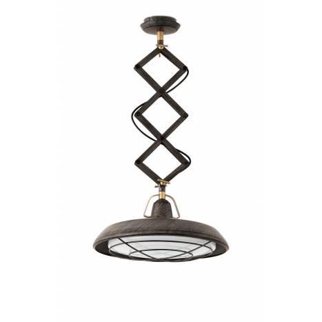 FARO Plec pendant lamp LED 1L brown