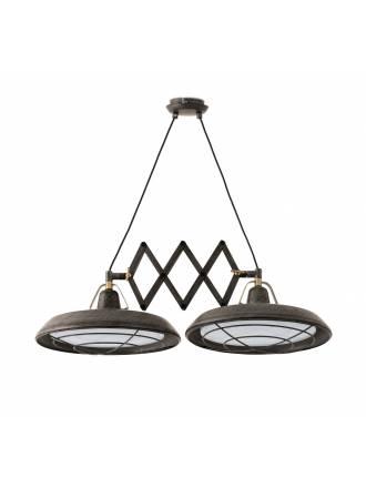 Lámpara extensible Plec 2L LED marrón - Faro