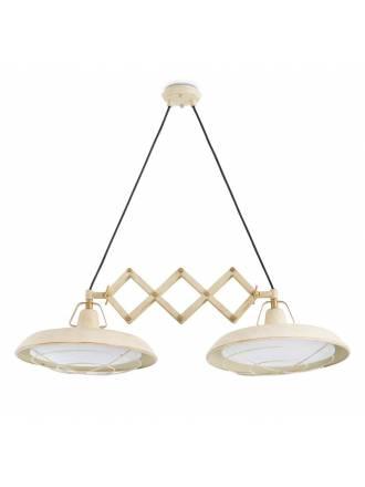 Lámpara extensible Plec 2L LED blanco - Faro