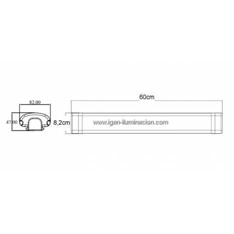 MASLIGHTING LED 18w light fixture IP65