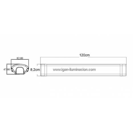 MASLIGHTING LED 36w light fixture IP65