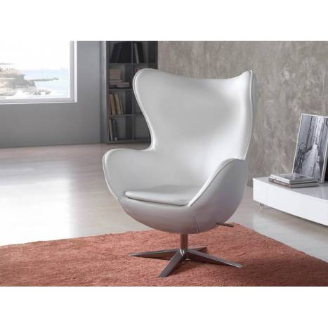 Schuller armchair Egg white