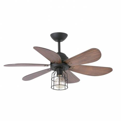 FARO Chicago ceiling fan 1L wallnut