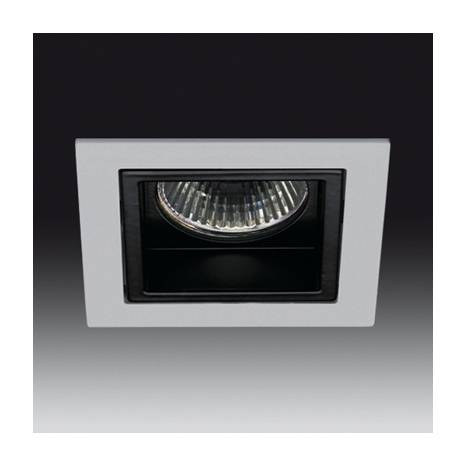 ONOK 180 square recessed light grey and black