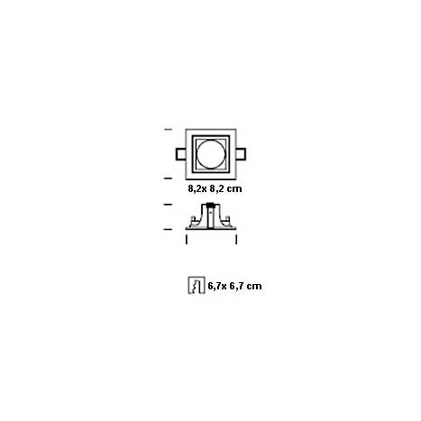 ONOK 180 square recessed light grey and black