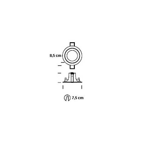 ONOK 181 round recessed light grey and black