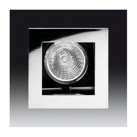 ONOK 186 square recessed light chrome