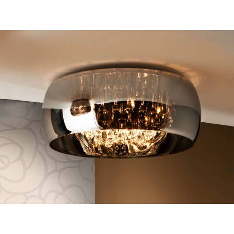 SCHULLER Argos 50cm ceiling lamp chrome