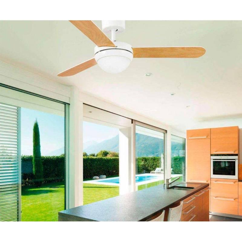 Ventilador de techo feroe 2l blanco faro - Ventilador de techo cocina ...