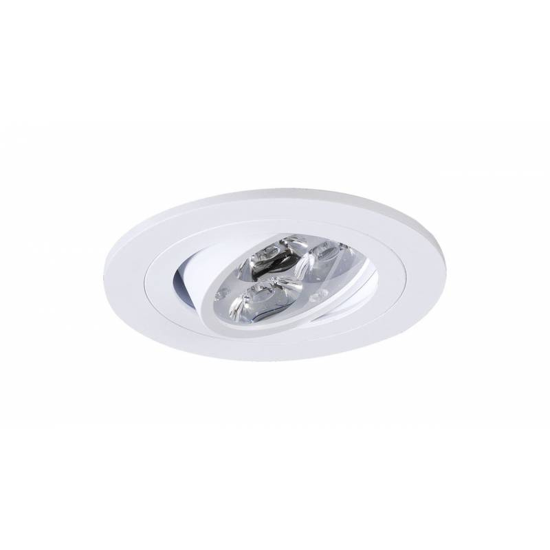 ONOK 191 round recessed light white aluminium