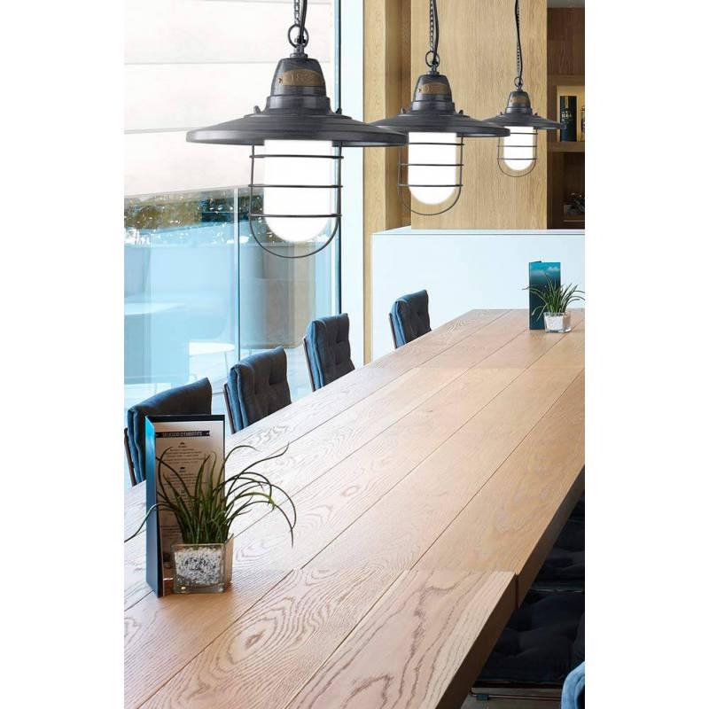 Leds C4 Cottage Pendant Lamp 1l Grey