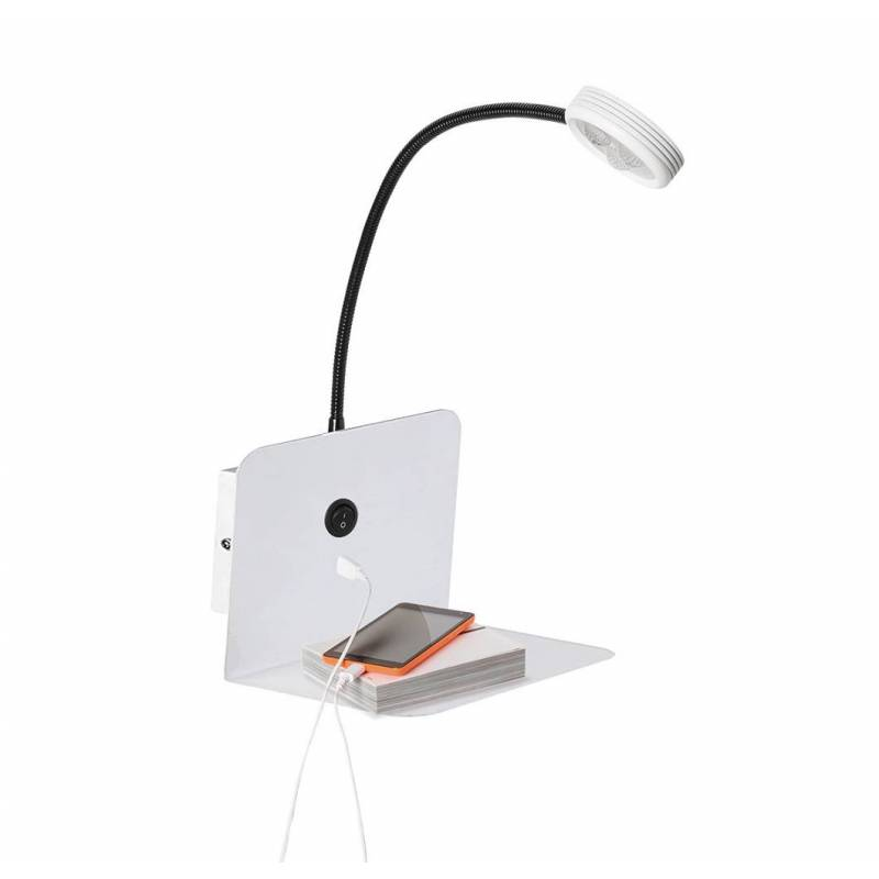 Wall Lamp With Usb : SULION Malvo 3w LED wall lamp USB