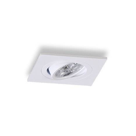 Foco empotrable LED 6w cuadrado aluminio blanco - Maslighting