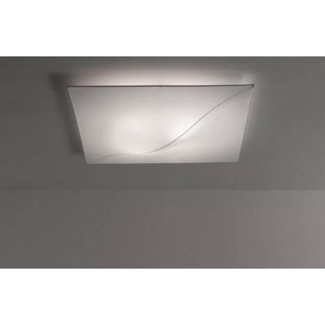 Plafón de techo Sofia tela blanca - Anperbar