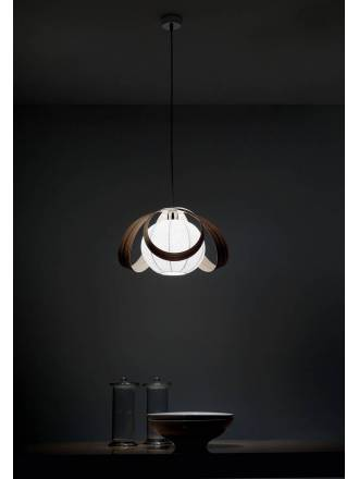Lámpara colgante Flower 1xE27 madera - Anperbar
