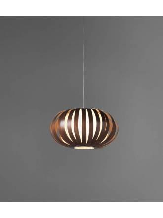 Lámpara colgante New Xapo 1xE27 madera - Anperbar