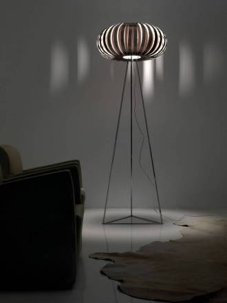 Lámpara de pie Wig 1xE27 madera - Anperbar
