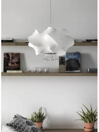 Lámpara colgante Lluvia 1xE27 tela - Anperbar