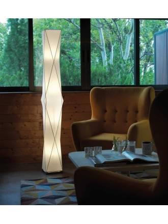 Lámpara de pie Loop tela blanca - Anperbar