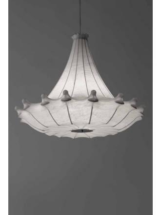 Lámpara colgante Isabel 1xE27 tela - Anperbar