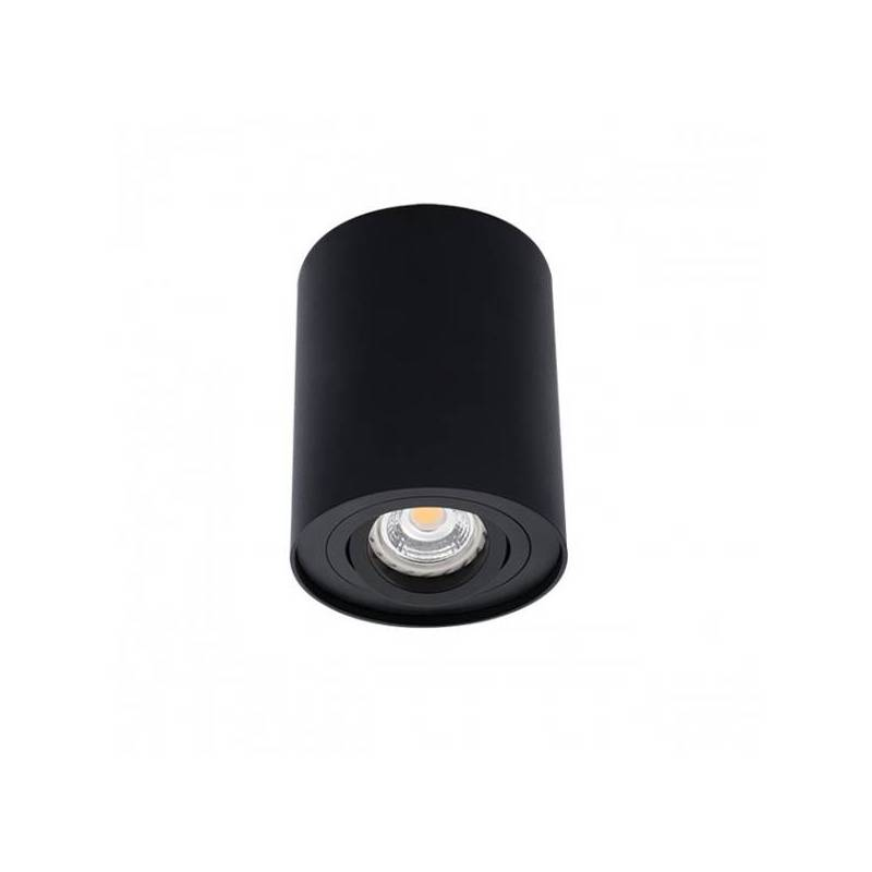 bpm kup round surface spotlight 1l gu10 black