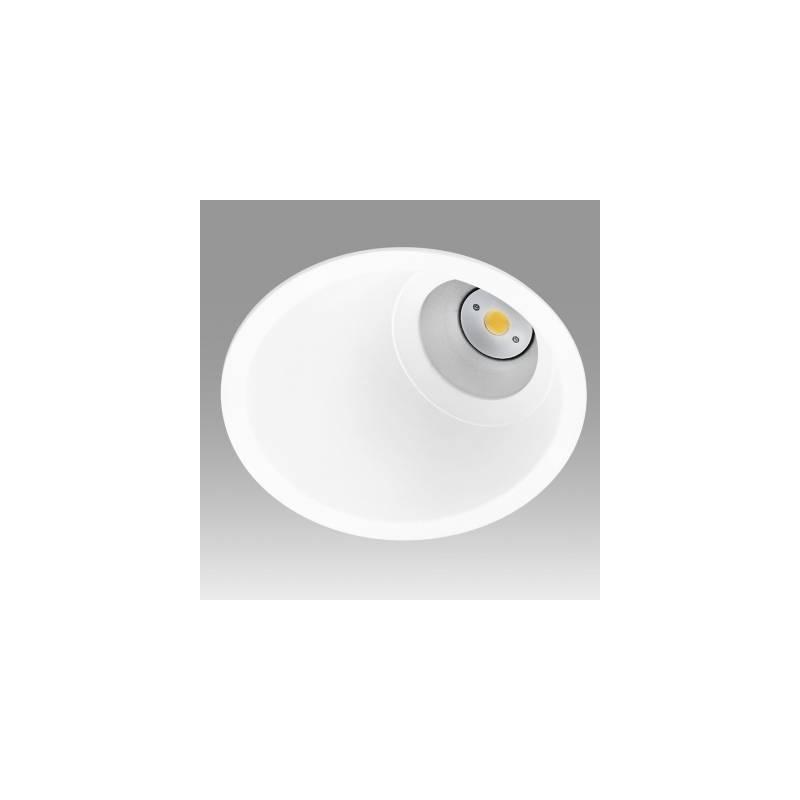 Foco empotrable vulcano asimetric aluminio blanco onok for Focos empotrables exterior