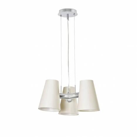 Lámpara de techo Lupe 3L E27 tela - Faro