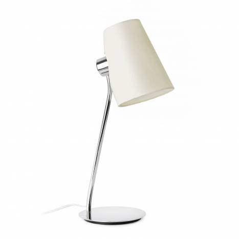 Lámpara de mesa Lupe 1L E27 tela - Faro