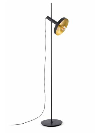 Lámpara de pie Whizz negro + oro - Faro