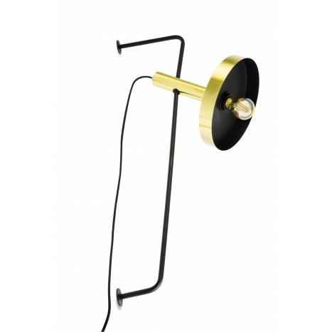 Aplique de pared Whizz oro + negro - Faro