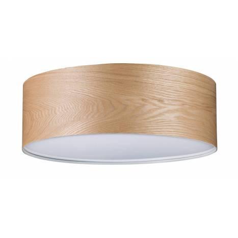 Plafón de techo Liska 3L E27 madera - Paulmann